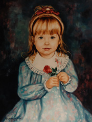 Examples of Portraits of Girls by Portrait Artist Patsy Arrington Dorsett