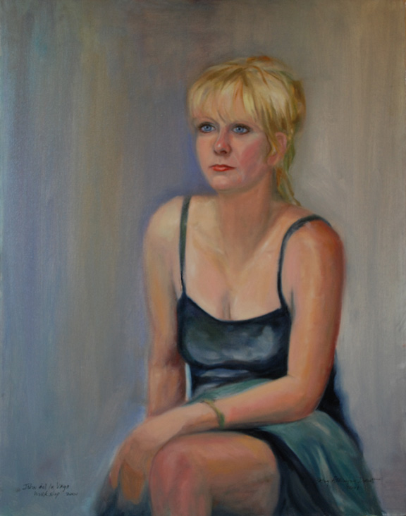 Portrait Painter in Virginia with Live Model