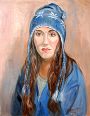 Life Study of Maria in winter hat