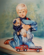 Examples of Portraits of Boys by Portrait Artist Patsy Arrington Dorsett